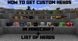 How to Get Custom Heads and List of Heads Minecraft Blog