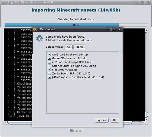 Importing Vanilla assets and mods