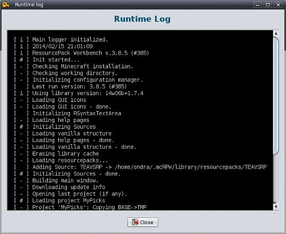 Runtime log for hunting bugs