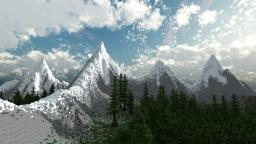 Swiss Alpine Landscape Minecraft