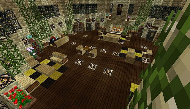 Hufflepuff Common Room and Dormitories! Minecraft Project