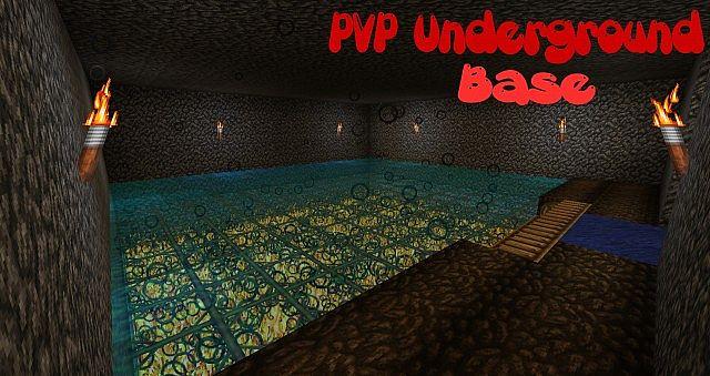 Pvp Underground Base Minecraft Project