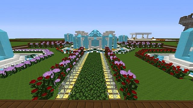 My flower garden minecraft project - Minecraft garden designs ...