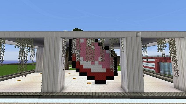 The Temple of Bacon, cleverly built by a Cesium Build Team member