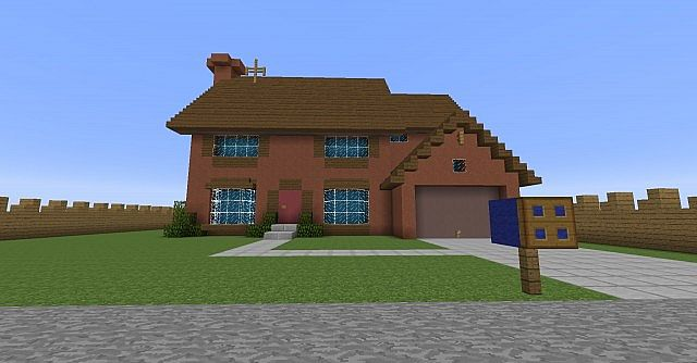 Springfield Simpsons House Minecraft Project - Minecraft haus bauen pe