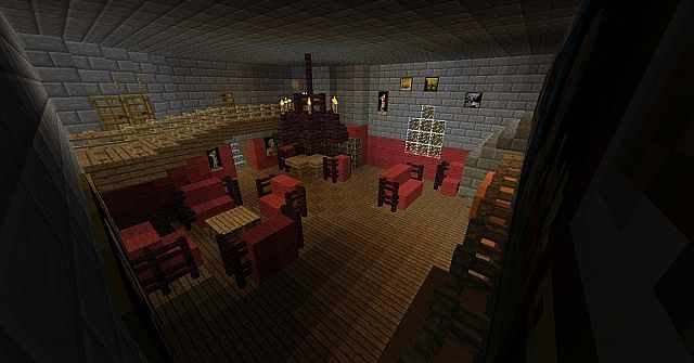 Gryffindor Common Room Minecraft of Fire Minecraft Project