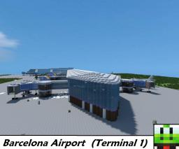Barcelona airport (Terminal 1, Under Construction) Minecraft Map & Project