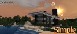 Simple, a Modern House Minecraft Map & Project