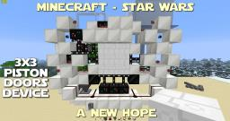 Tutorial - Death Star 3x3 Piston Door Minecraft Map & Project