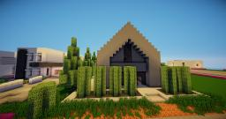 Silhouette - A modern A-Frame home by vNiimbo Minecraft Map & Project