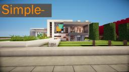 Simple- A Modern House Minecraft Map & Project