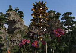 Spring and Autumn Pagoda Minecraft Project