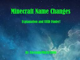 Minecraft UUID - Find your Minecraft UUID!