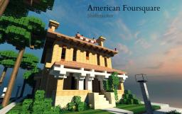 American Foursquare Home Minecraft