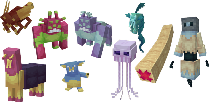 Some of the unique mobs you can find throughout the Cosmos!