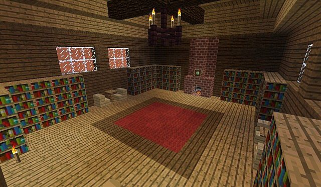 The early version of the Spawn Room, before I darkened the windows and re-decorated the fireplace..