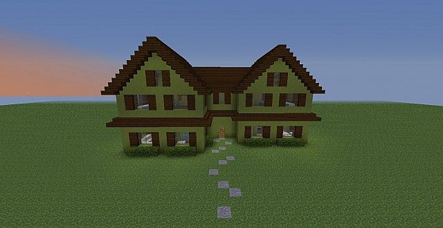 Suburban Two Story Town House Minecraft Map