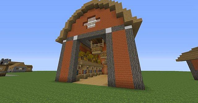Barn House Minecraft Map