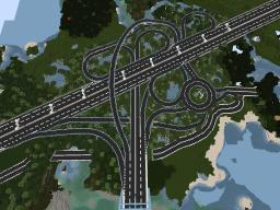 highway interchange Minecraft Map & Project