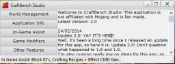 CraftBench Studio 2.0 (UPDATED 24/02/2014)
