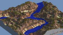 Canyon River - Custom Terrain Minecraft