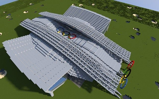 300 Subscribers Olympic Aquatics Centre Minecraft Project