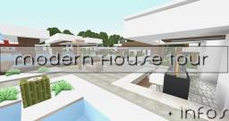 Modern Beach house + Car and Speed boat Minecraft Map & Project