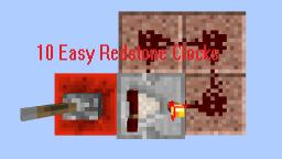 Top 10 Easist Redstone Clocks Minecraft Map & Project
