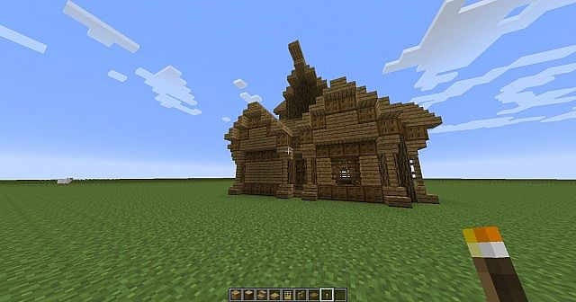 Minecraft Oak Wood ~ Oak wooden house minecraft project
