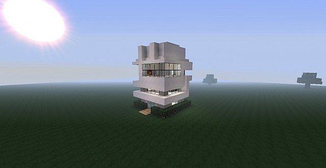 Modern House 8x8 Minecraft Map
