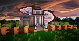 Futurist Modern House Minecraft Map & Project