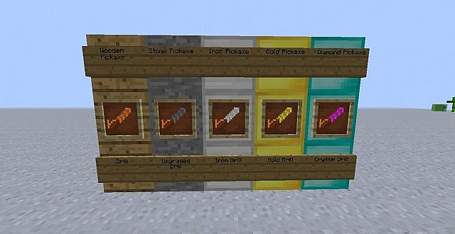 Pickaxes are made drills!