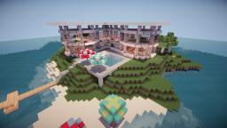 Modern Island Mansion Minecraft Map & Project