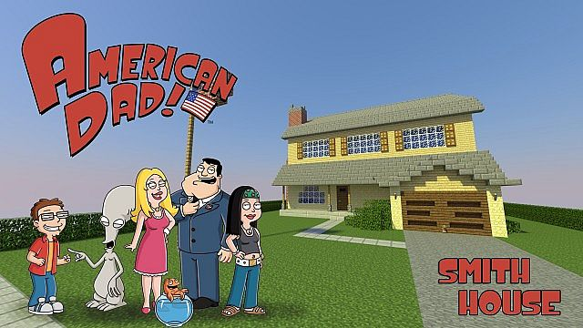 American Dad Smith House Minecraft Project