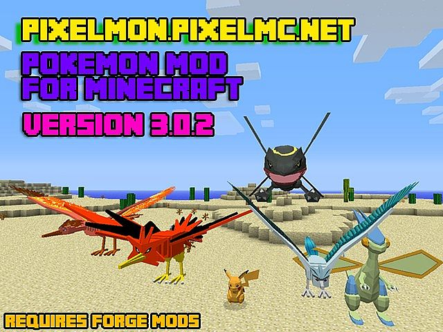 Pixelmon V3 0 4 Pixelmc Pixelmon Mod With Pokemon Auto