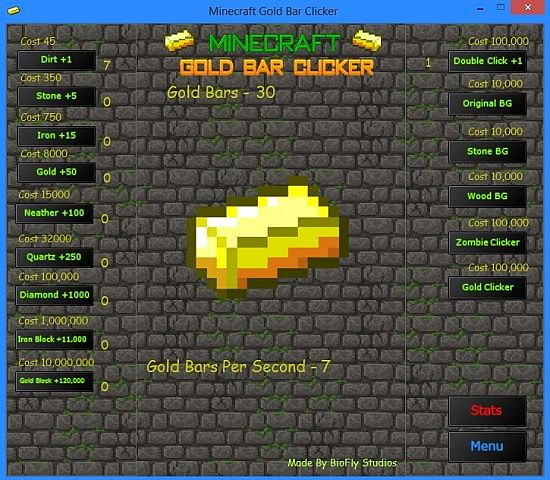 Game Minecraft Gold Bar Clicker V Now With Sounds Minecraft Mod - Minecraft clicker spiele