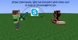 Skype Usernames, Why we shouldn't give them out. Minecraft Blog Post