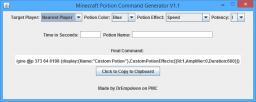 Custom Potion Command Generator V1.1 Minecraft Mod