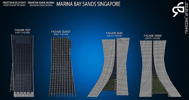 how to build marina bay sands model