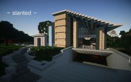 ~ slanted ~ modern build Minecraft Map & Project