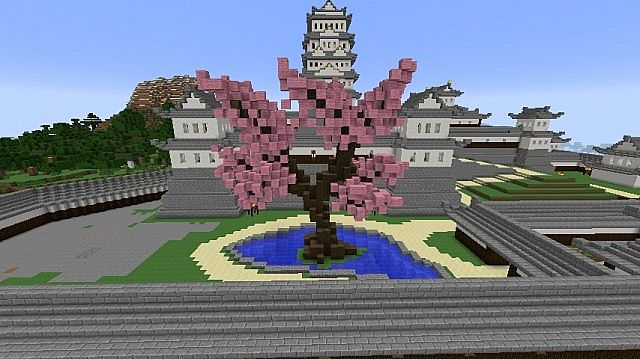 interesting minecraft japanese tree tutorial cherry blossom
