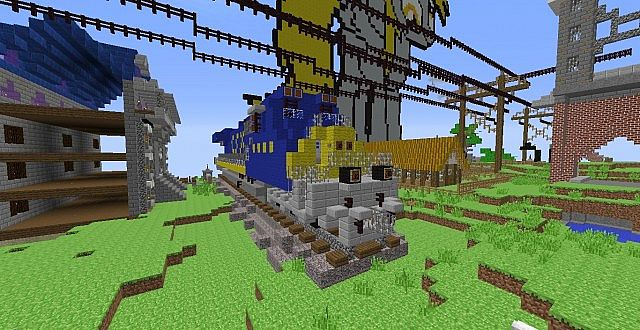 how to build a locomotive in minecraft