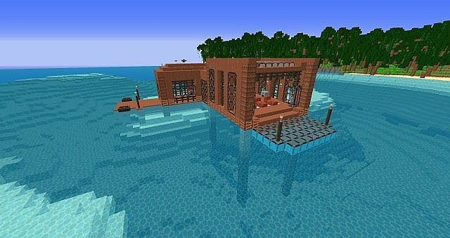 Minecraft Tropical Island: Tropical Island And House Minecraft Project