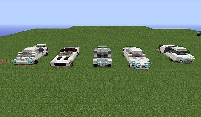 how to build a small car in minecraft