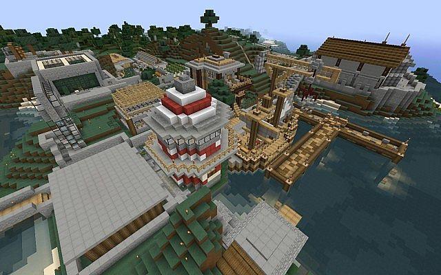 карта деревни майнкрафт 1.7.10 #9