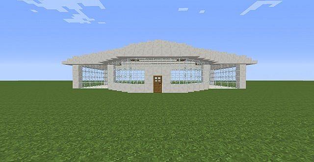 Basic Quartz Glass House Minecraft Map