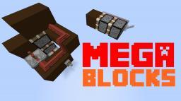 MEGA-Blocks: Piston, repeater, redstone, lever, button Minecraft Map & Project