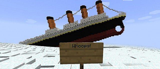 minecraft boat sinking