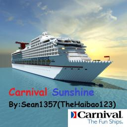 Carnival Sunshine [Done :D] [1:1 Scale Cruise Ship!] Minecraft