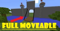 full moveable Castle gate ! ( Vanilla/without Mods ) Minecraft